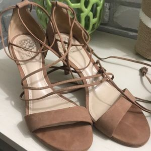 Shoes - Vince Camuto Kathin strappy suede sandals